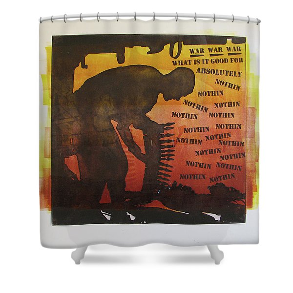 D U Rounds Project, Print 18 Shower Curtain
