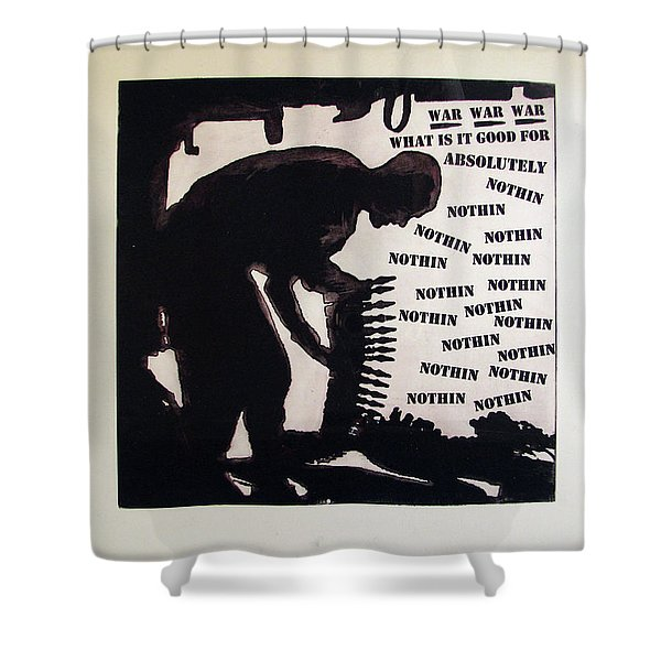 D U Rounds Project, Print 20 Shower Curtain