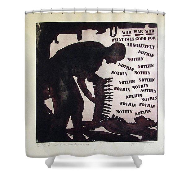 D U Rounds Project, Print 21 Shower Curtain