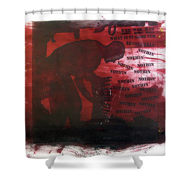 D U Rounds Project, Print 38 Shower Curtain