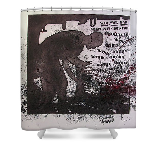 D U Rounds Project, Print 40 Shower Curtain
