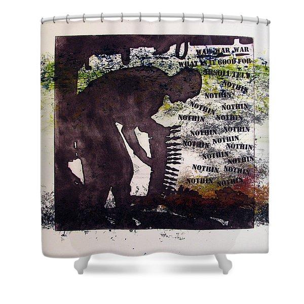 D U Rounds Project, Print 5 Shower Curtain
