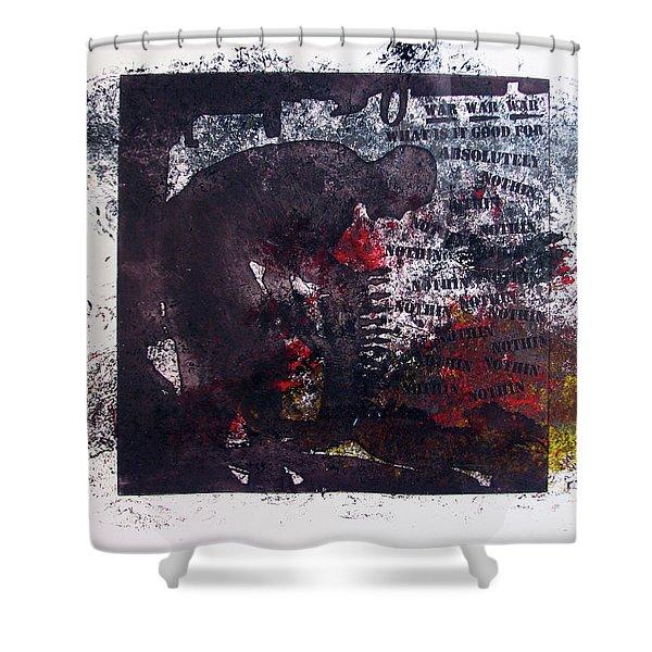 D U Rounds Project, Print 7 Shower Curtain