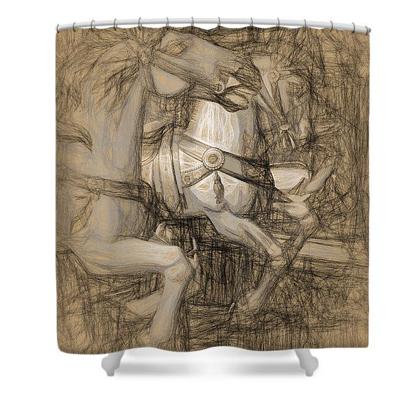 Da Vinci Carousel Shower Curtain