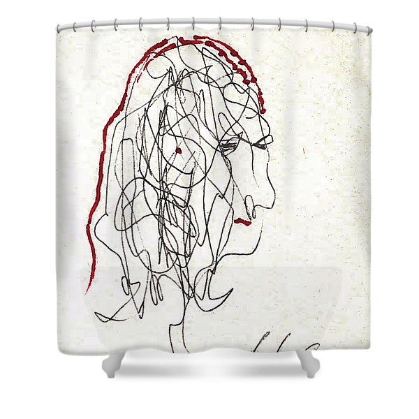 Da Vinci Drawing Shower Curtain