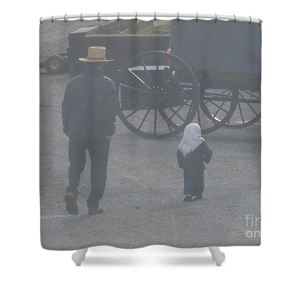 Dad And Daughter Shower Curtain