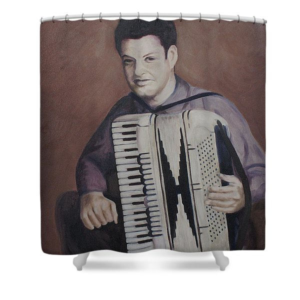 Daddy And His Accordion Shower Curtain
