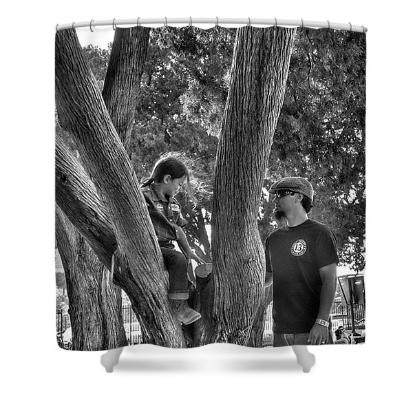 Daddy's Day Off  Shower Curtain