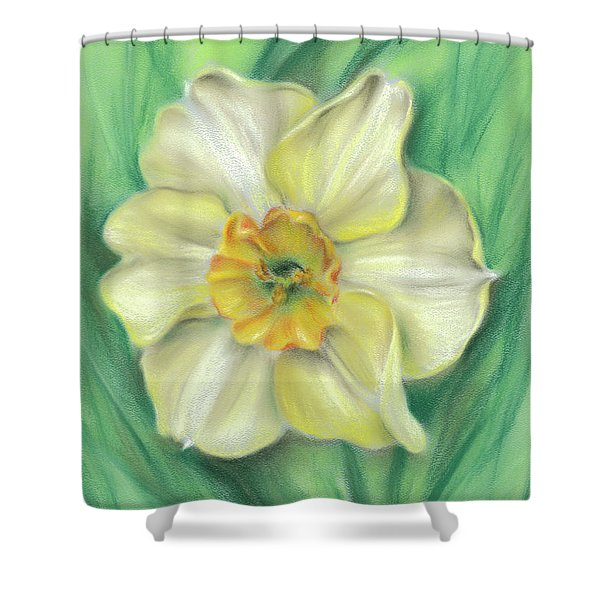 Daffodil Spring Floral Shower Curtain