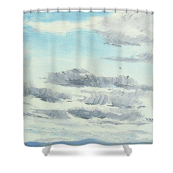 Dagrar Over Salenfjallen- Shifting Daylight Over Distant Horizon 10 Of 10_0029 Shower Curtain
