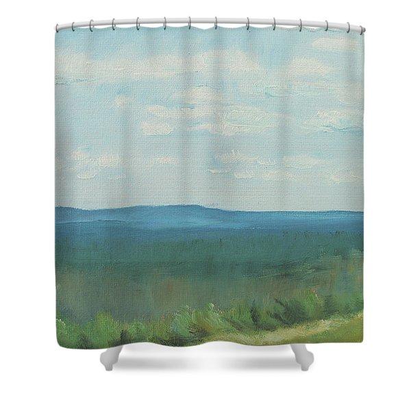 Dagrar Over Salenfjallen- Shifting Daylight Over Distant Horizon 3 Of 10_0029 50x40 Cm Shower Curtain