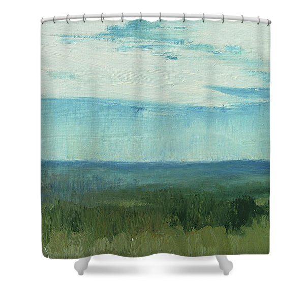Dagrar Over Salenfjallen- Shifting Daylight Over Distant Horizon 7 Of 10_0029 Shower Curtain