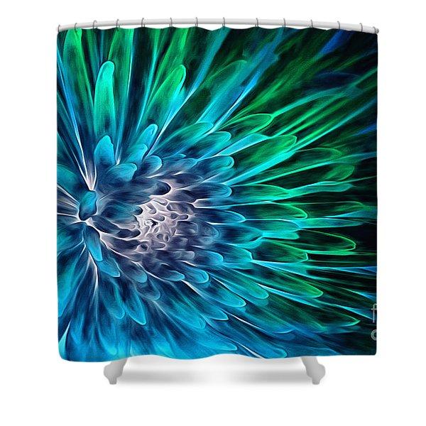 Dahlia Abstract Vibrance Shower Curtain