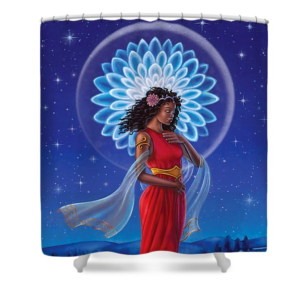 Dahlia - Attend To Your Shadows Shower Curtain