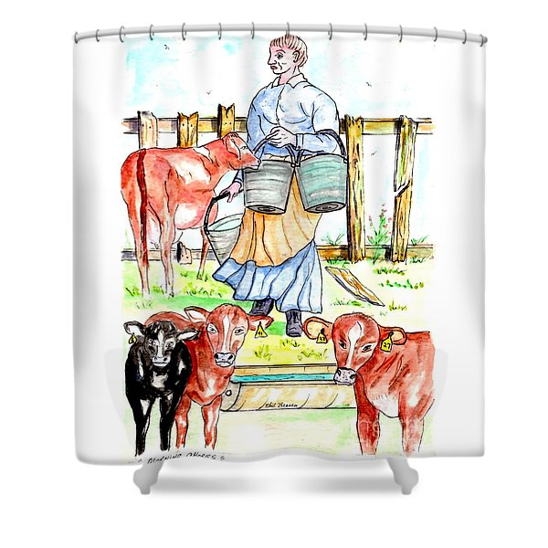 Daily Chores Shower Curtain
