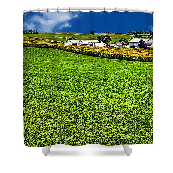 Dairy Farm Dane County Wisconsin Shower Curtain