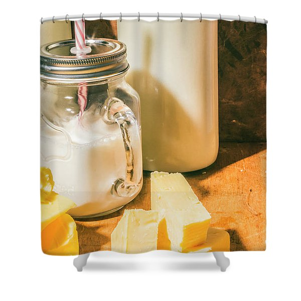 Dairy Farm Products Shower Curtain