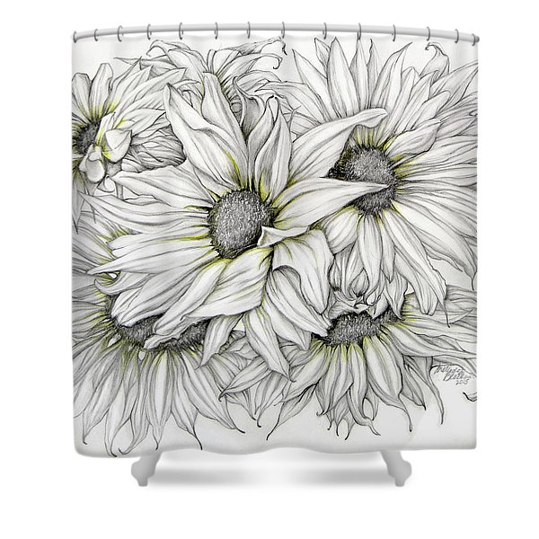 Sunflowers Pencil Shower Curtain