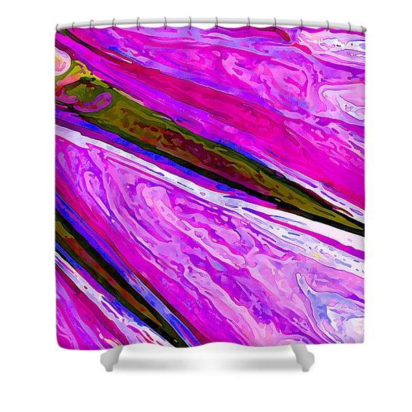 Daisy Petal Abstract 1 Shower Curtain