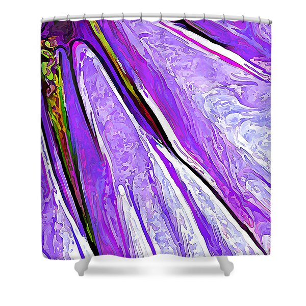Daisy Petal Abstract In Grape Shower Curtain
