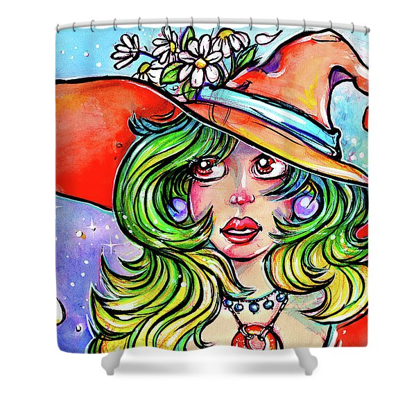 Daisy Witch Shower Curtain