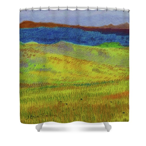 Shower Curtain featuring the painting Dakota Dream Land by Cris Fulton