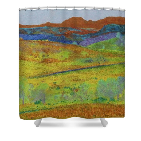 Shower Curtain featuring the painting Dakota Territory Dream by Cris Fulton