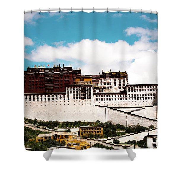 Dalai Lama Home Place. Potala Palace  Kailash Yantra.lv 2016 Tibet Shower Curtain