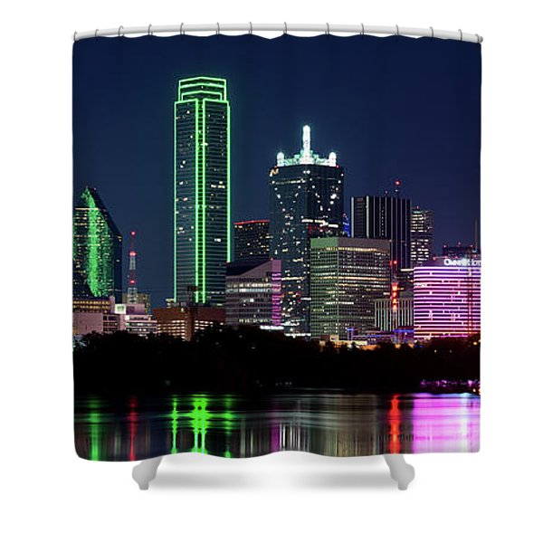 Dallas Colors Pano 2015 Shower Curtain