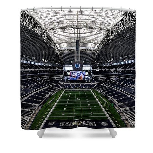 Dallas Cowboys Stadium End Zone Shower Curtain