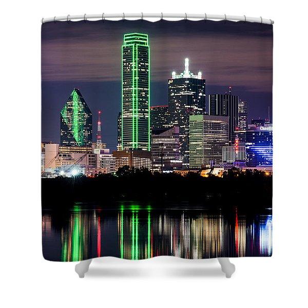 Dallas Cowboys Star Skyline Shower Curtain