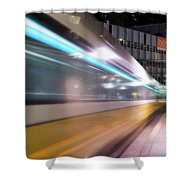 Dallas Dart Motion 012618 Shower Curtain