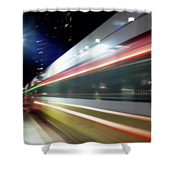 Dallas Dart Train 012518 Shower Curtain