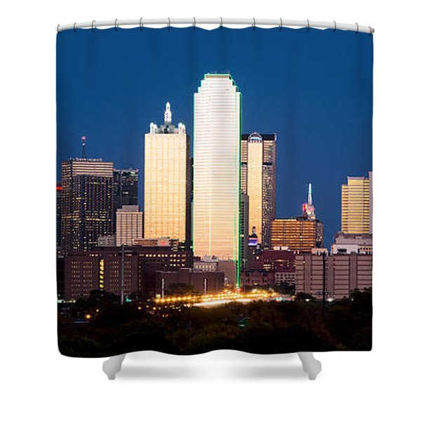 Dallas Golden Pano Shower Curtain