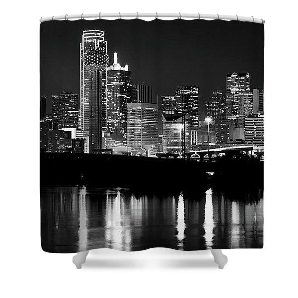 Dallas Nights Bw 6816 Shower Curtain