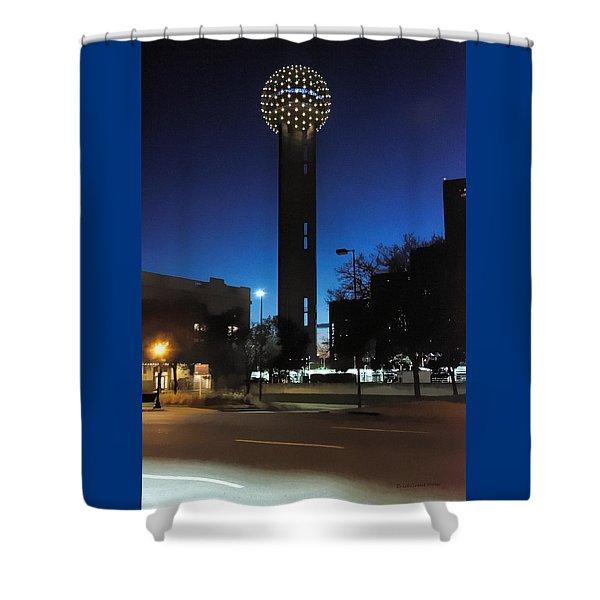 Dallas Reunion Tower Shower Curtain