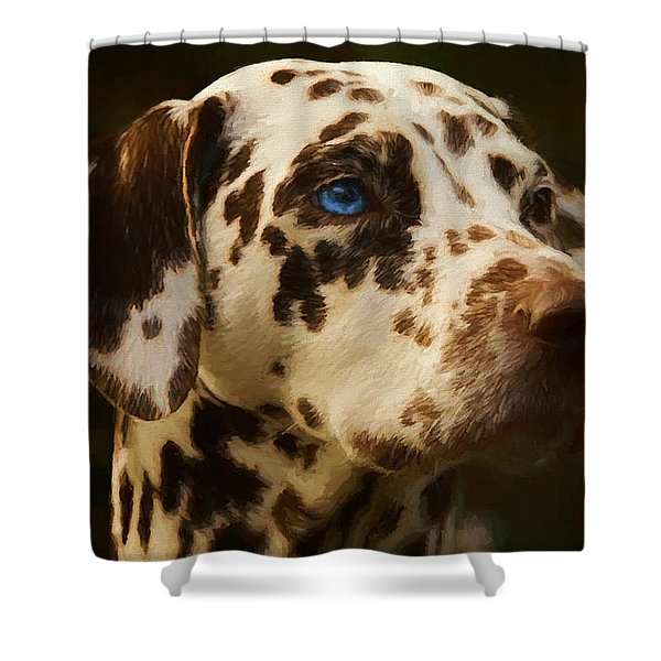 Dalmatian - Painting Shower Curtain