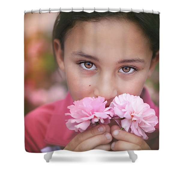 Damask Roses Shower Curtain