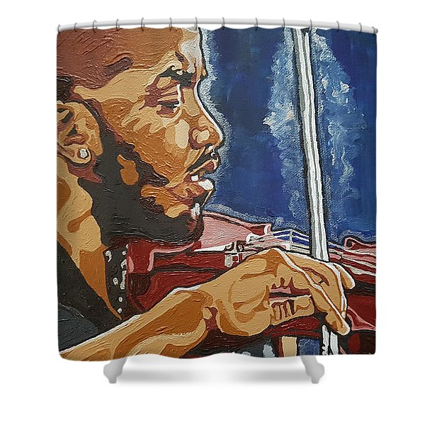 Damien Escobar Shower Curtain