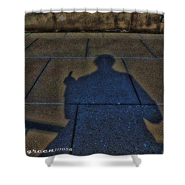 Damn Shadow Figure Shower Curtain