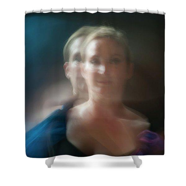 Duet In Blue Shower Curtain