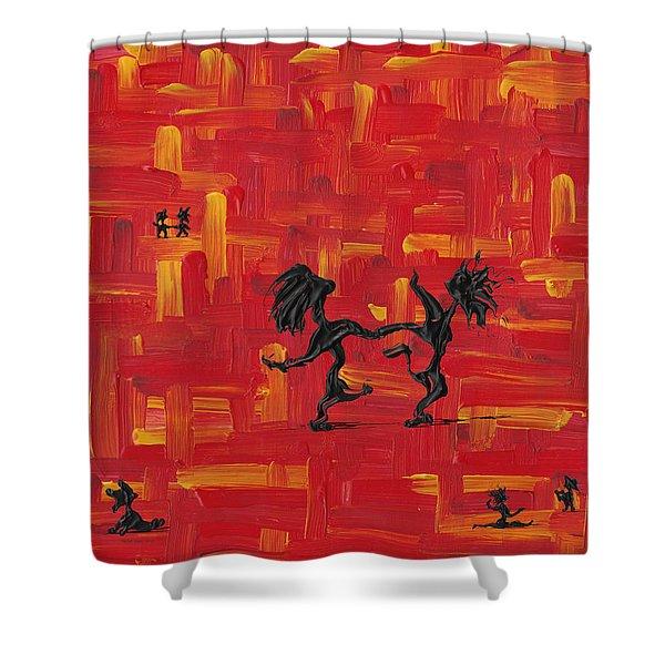 Dance Art Creation 3d9 Shower Curtain