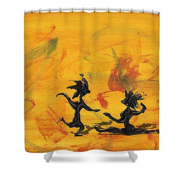 Dance Art Dancing Couple 238 Shower Curtain