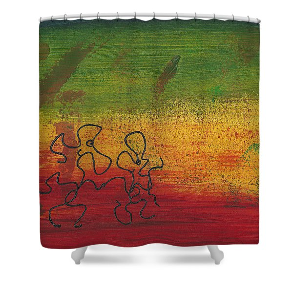 Dance Art Dancing Couple 28b Shower Curtain