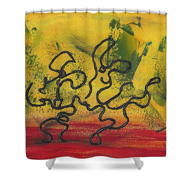 Dance Art Dancing Couple 57 Shower Curtain