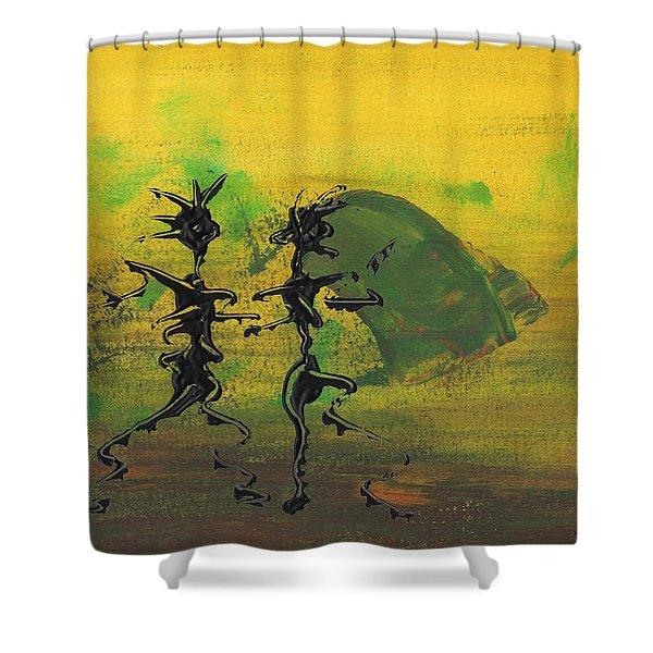 Dance Art Dancing Couple Ix Shower Curtain