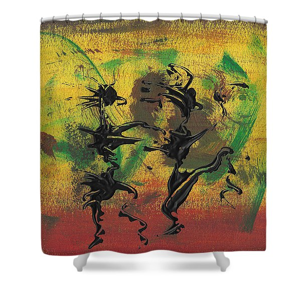 Dance Art Dancing Couple Xi Shower Curtain