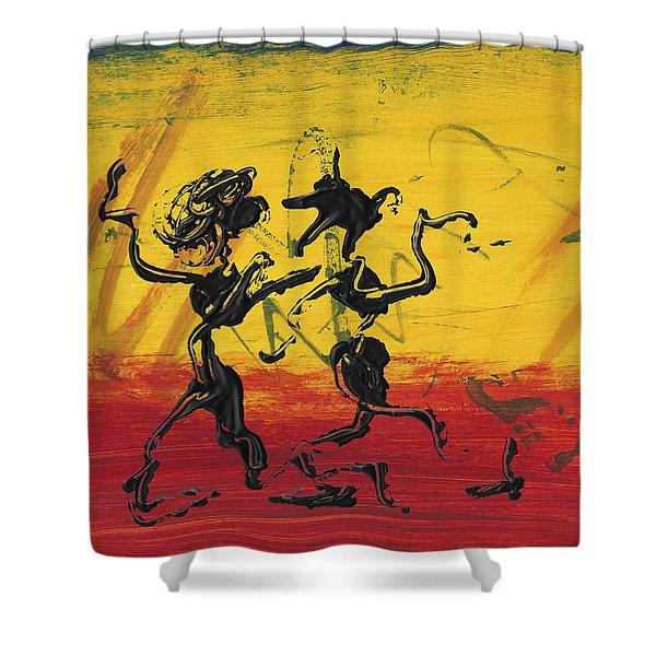 Dance Art Dancing Couple Xii Shower Curtain