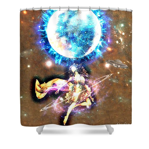 Dance Me To The Moon Shower Curtain