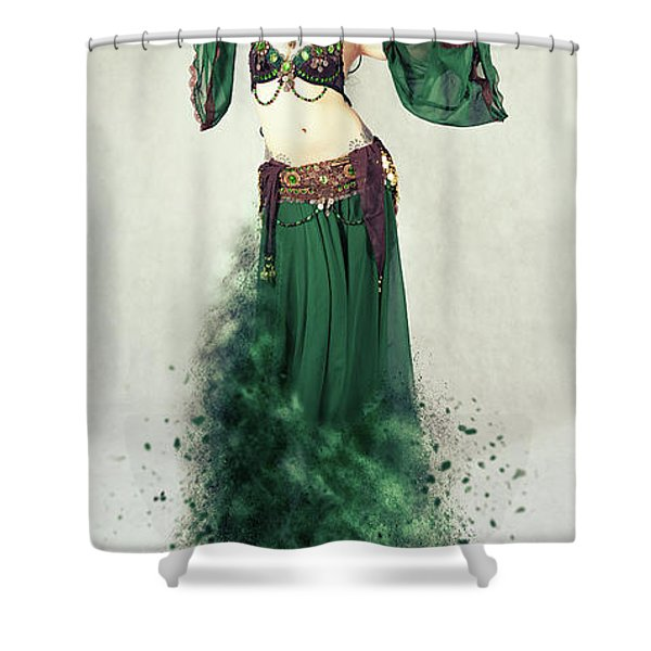 Dance Of The Belly Shower Curtain
